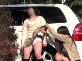Japanese teenager pisses