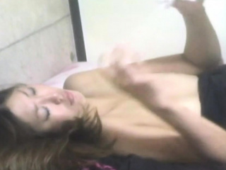 Asian babe watched eating