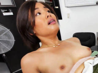 Randy amateur jap chick fucked in the ass