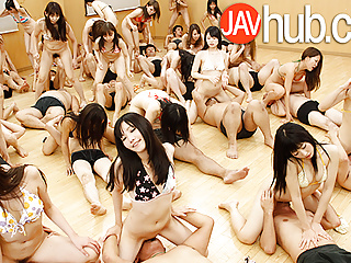 JAVHUB Huge hardcore uncensored Japanese orgy