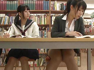 Asian Schoolgirl Seduces Teacher in Library